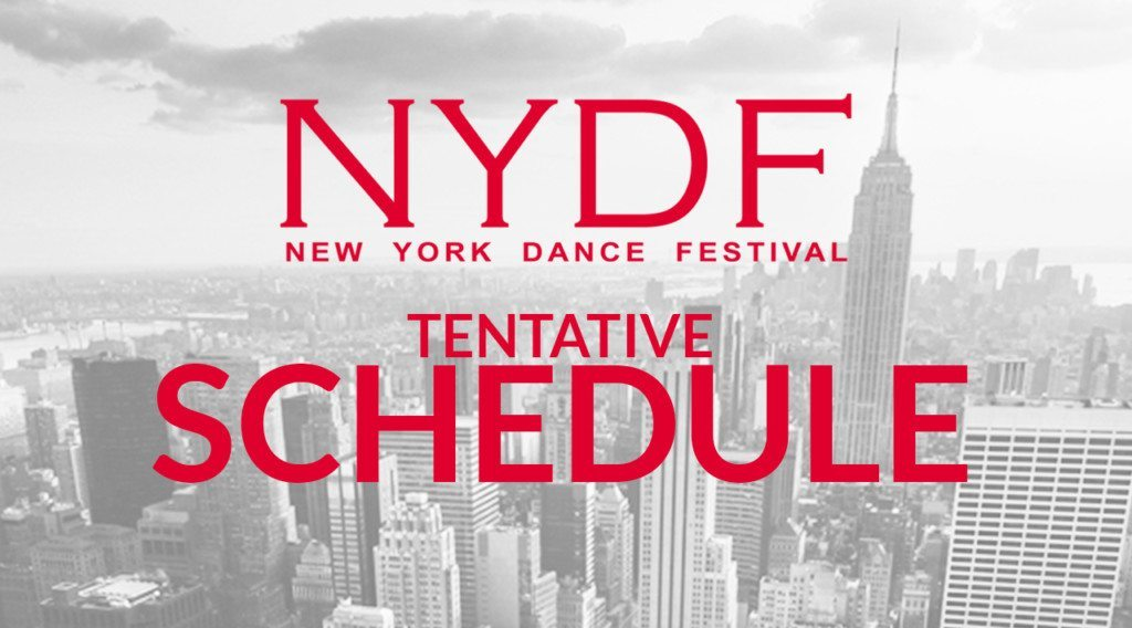 New York Dance Festival 2020 Tentative Schedule of Event 2020 – New York Dance Festival